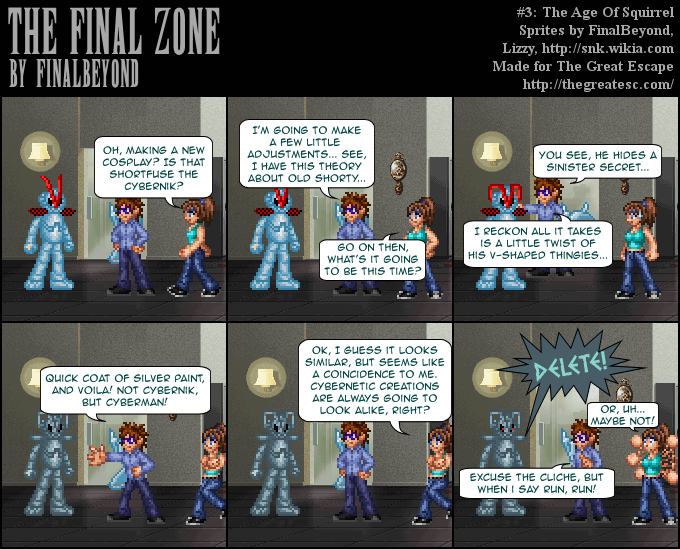 The Final Zone comic strip - #3 The Age of Squirrel