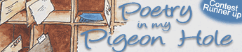 Poetry in my Pigeon Hole - short story title banner