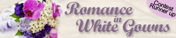 Romance in White Gowns - short story title banner