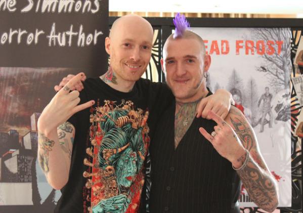 Wayne Simmons & Adam Millard - Horror authors, at Cardiff Comic Expo