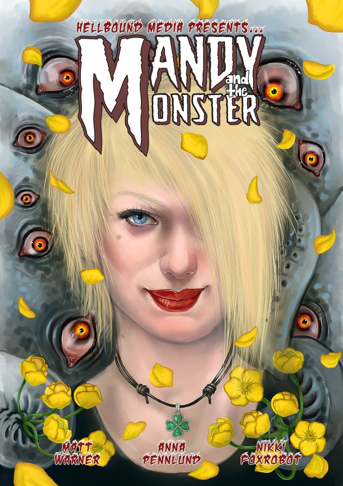 Mandy and the Monster - comic cover art