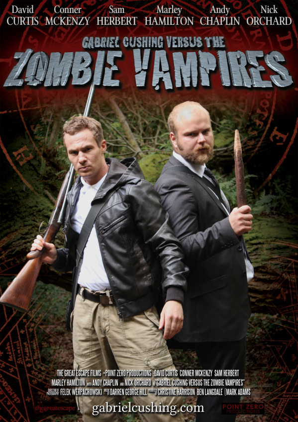 Second Official Gabriel Cushing vs the Zombie Vampires poster