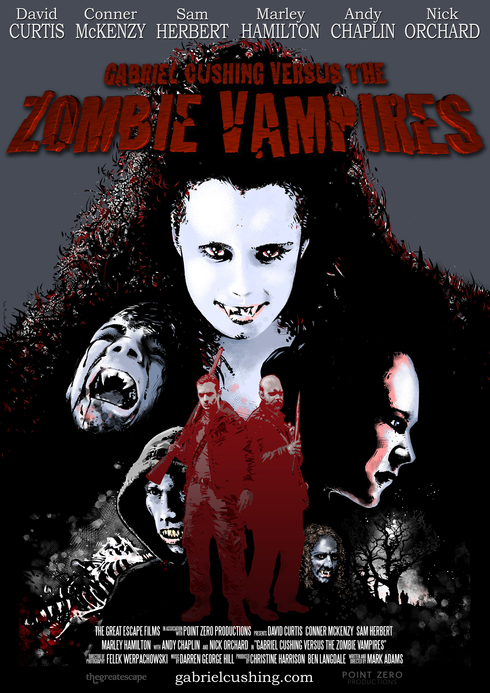 Gabriel Cushing vs the Zombie Vampires - Official Poster