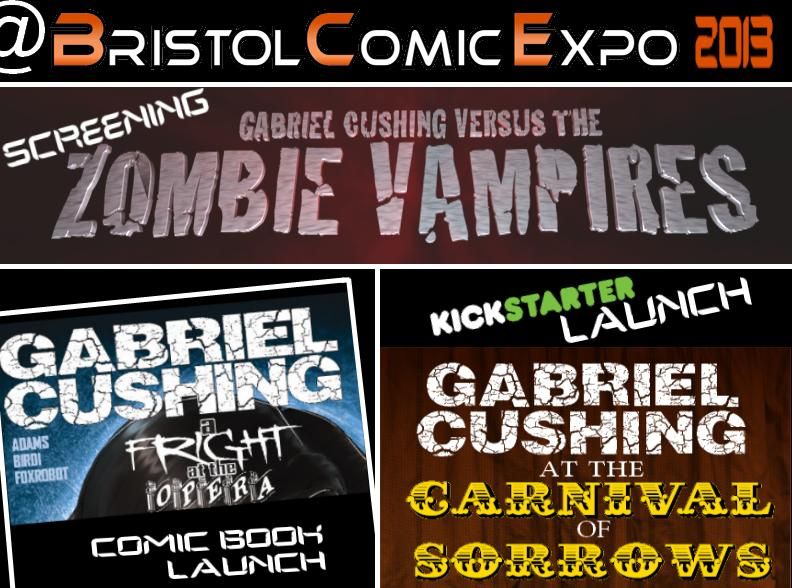 The Great Escape and Gabriel Cushing events at Bristol Comic Expo, 2013. Read on for more details.