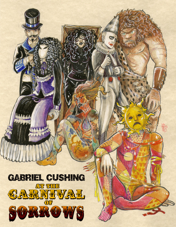 Gabriel Cushing at the Carnival of Sorrows - Carnival troupe concept art