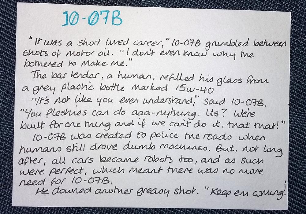 10-07B - an unemployed robot traffic warden