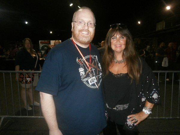 MattComic creator Warner and actress Caroline Munro