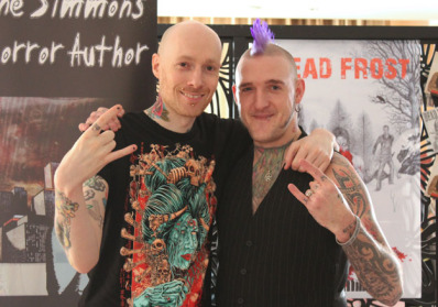 Wayne Simmons & Adam Millard - Horror authors, at Cardiff Comic Expo