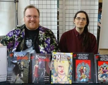 Mark Adams, Matt Warner & Tony Emson at Bristol Comic Expo 2012