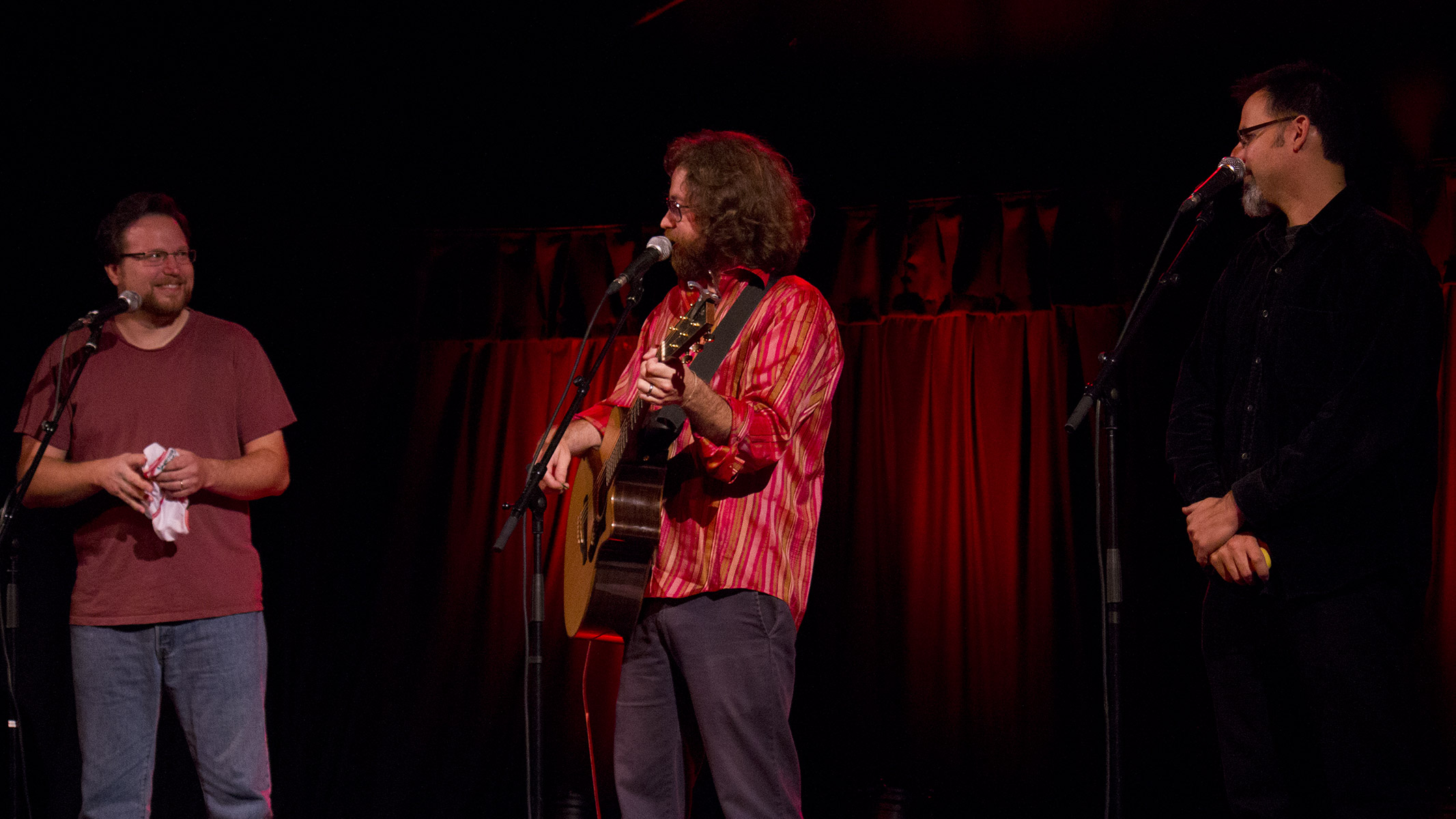 Jonathan Coulton with Paul and Storm at Bristol's Colston Hall September 2012