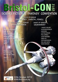 Poster art for the 2012 Bristol-CON Sci-Fi and Fantasy Convention