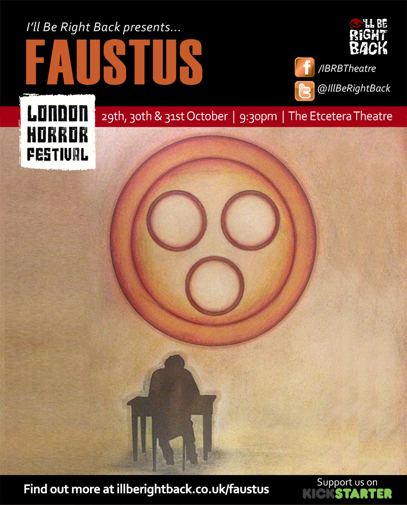 Faustus at The Etcetera Theatre October 2014