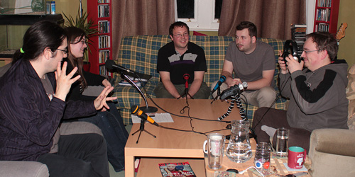 The Great Escape team record the pilot episode of Breakout