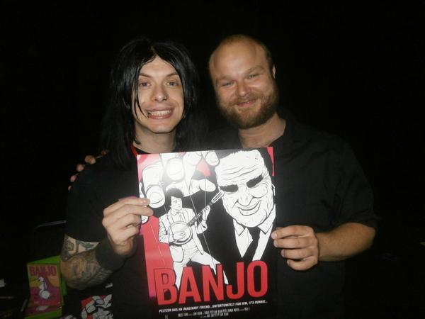 Liam Regan and David Curtis promote Banjo