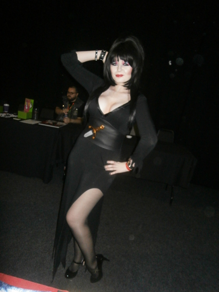 Cosplayer dressed as Elvira