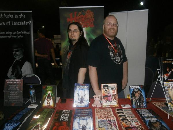 Mark Adams and Matt Warner of Hellbound Media at Horror Con
